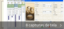 Colagem de capturas de tela para MyHeritage Family Tree Builder