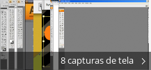Colagem de capturas de tela para Adobe Illustrator