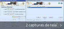 Colagem de capturas de tela para E.M. Free PowerPoint Video Converter