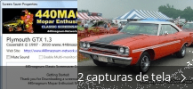 Colagem de capturas de tela para Plymouth GTX Screensaver