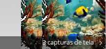 Colagem de capturas de tela para Tropical Fish 3D Screensaver