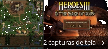 Colagem de capturas de tela para Heroes Of Might And Magic - In The Wake of Gods