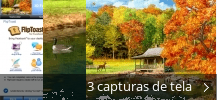 Colagem de capturas de tela para 3D Falling Leaves Animated Wallpaper