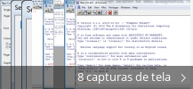 Colagem de capturas de tela para R for Windows
