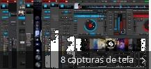 Colagem de capturas de tela para Virtual DJ
