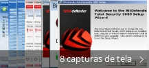 Colagem de capturas de tela para BitDefender Total Security