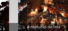 Colagem de capturas de tela para Fireplace 3D Screensaver