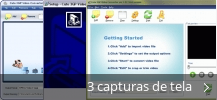 Colagem de capturas de tela para Cute 3GP Video Converter