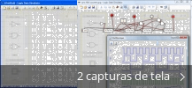 Colagem de capturas de tela para Logic Gate Simulator