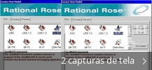 Colagem de capturas de tela para IBM Rational Rose Enterprise Edition
