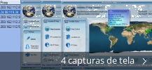Colagem de capturas de tela para Invisible IP Map
