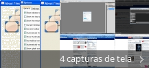 Colagem de capturas de tela para Finestra Virtual Desktops