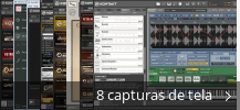 Colagem de capturas de tela para Native Instruments Kontakt